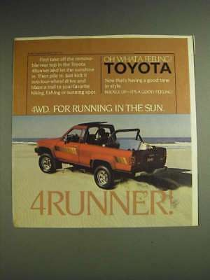 1984 Toyota 4Runner Truck Ad - 4WD. For running in the sun