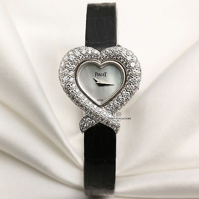 Piaget Heart-Shaped Diamond Case, Mother of Pearl, 18k White Gold 5285