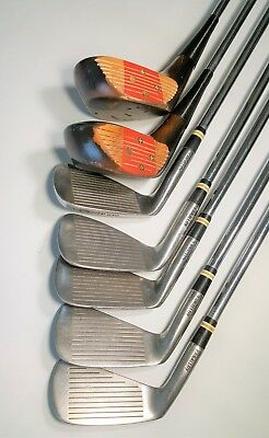 Vintage Toney Penna Irons and Persimmon Fairway Woods RH Stainless Shafts