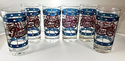 Tumbler-sized Pepsi Cola B48, Embossed to look like Tiffany Stained Glass