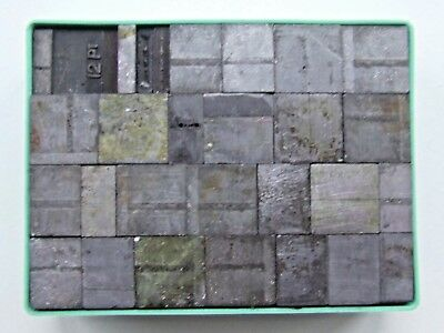 Adana Letterpress Printing 48pt Used Metal Spacers in a plastic box Weight 1138g