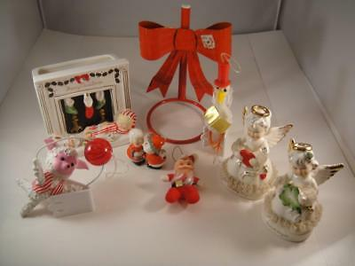 Vintage Mixed Lot Of Christmas Decorations/Ornaments Mid Century VGC