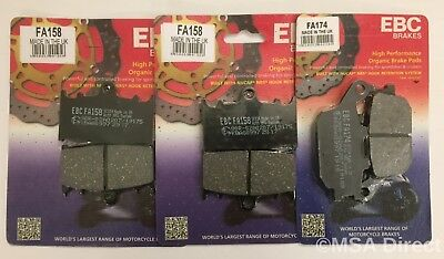 Suzuki GSF650 Bandit (2007 to 2015) EBC Organic FRONT and REAR Disc Brake Pads