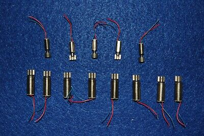 Motors, Pager Vibration, Small And Large Sizes (Lot Of 13)
