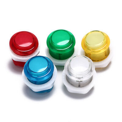 24mm led illuminated 5v push buttons built-in switch for arcade joystick FPDH