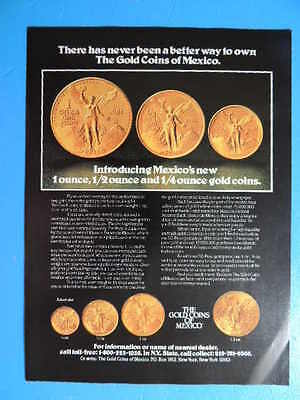 1981 There Has Never Been A Better Way To Own The Gold Coins Of Mexico Photo Ad