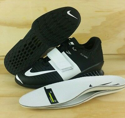 best loved 42b68 843a6 Nike Romaleos 3 Weightlifting Training Shoe Black White 878557-001 Womens  Size 8