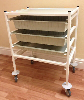 Systemed 3-Drawer Trolley, Medical, Beauty, Storage like Gratnells, Bristol Maid
