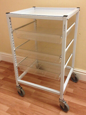Gratnells 3-Drawer Trolley, Medical, Dental, Beauty, Craft, Tool, Storage, Cart