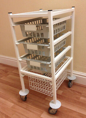 Systemed 4-Drawer Trolley, Medical, Beauty, Storage like Gratnells, Bristol Maid