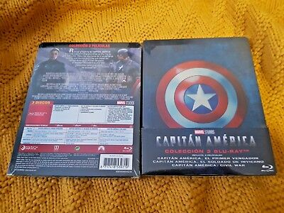 Captain America Trilogy 1-3 Collection BluRay Limited Edition Steelbook New&Seal