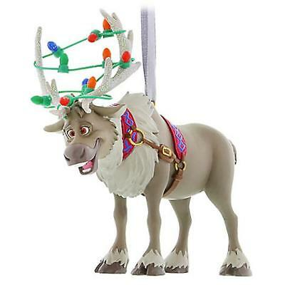 Disney Parks Frozen Sven Reindeer with Lights Christmas Holiday Ornament NEW