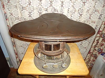 Antique Parlor Stove,k-1 Oil Clover Leaf Cook,heat,lamp Stove,adam & Westlake