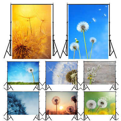 Dandelion Photography Backdrop Studio Wall Photo Background Prop Decor 3x5/5x7ft