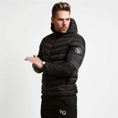 Men Down Coat Windproof Soft Winter Hooded Warm Thick Cotton Padded Jacket Parka