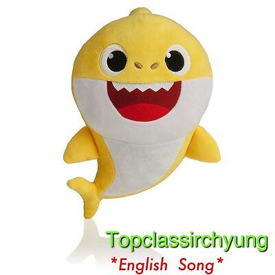 Yellow Baby Shark Official English Singing Plush WowWee USA Hot Toy