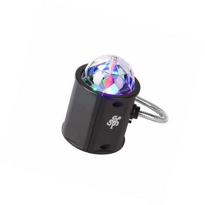 TSSS RGB LED Crystal Light w/ USB Interface 2in1 Rotating for Outdoor Party (G