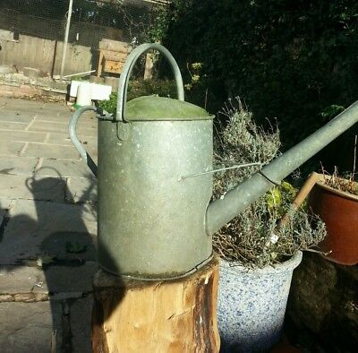 Vintage Galvanised Watering Can Vintage Garden Planter Feature