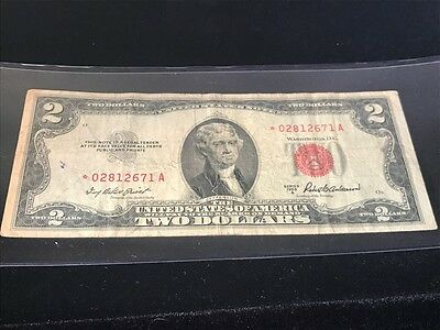 1953 A $2 United States Note with Red Seal Star note