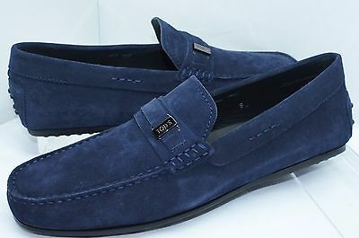 10a44c87665 New Tod s Men s Loafers Blue Shoes Driver Size 7 Slip Ons Holiday Gift Sale