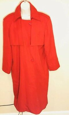 Vintage Disney ImageMaker Northwest Airlines employee trenchcoat size 6R red