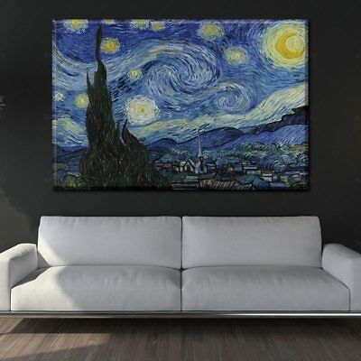 Wall Art Canvas Painting The Starry Night From Van Gogh Picture Home Decor