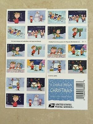 USPS 2015 A Charlie Brown Christmas Forever Stamp Booklet