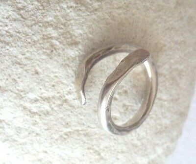 Handmade Philosophy ancient Greek style ring in 925 silver for all finger sizes