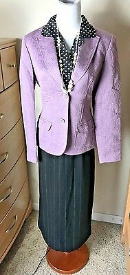 casual corner womens clothes outfit lot size 4 6 small skirt purple blazer