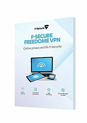 F-Secure Freedome VPN Online Privacy & WiFi Security 3 Devices PCs 1 Year Key EU