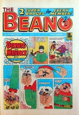 BEANO COMIC #2331 - 21st March 1987