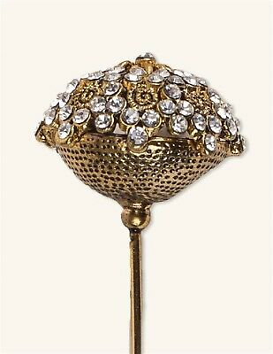 Victorian Trading Co Rhinestone Gilded Nosegay Floral Hatpin