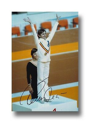 Nadia Comaneci Hand Signed 12X8 Photo Olympics -  Gymnastics.