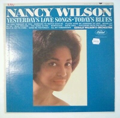 NANCY WILSON YESTERDAY'S Love Songs AUTOGRAPHED LP 1963