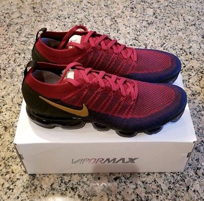 Nike Air Vapormax Flyknit 2.0 Olympic Size 12 Team Red Wheat Navy 942842-604 NEW