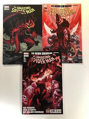 Amazing Spider-Man 3 Comic Lot #798 799 800 Third Print Variant Alex Ross