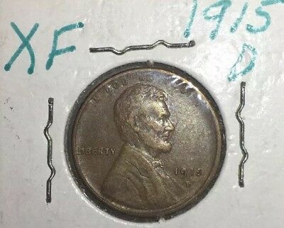 1915 D LINCOLN WHEAT CENT PENNY Extremely Fine Condition. Free Shipping