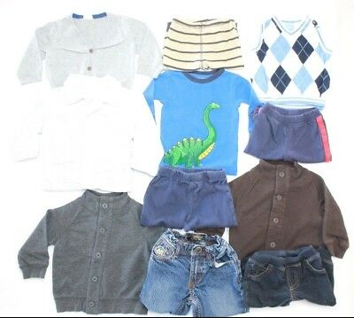 Lot of 11 Baby Boy Winter/Fall Clothes, H&M, Carter's, Size 3-9 Months