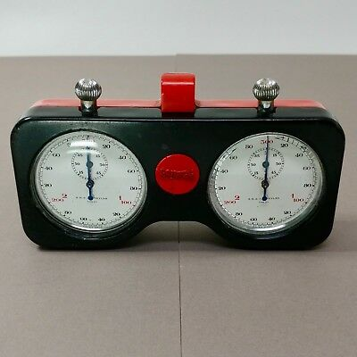 Rare 1950's Indy 500 race used Champion Meylan Dual Timer Stopwatch Set