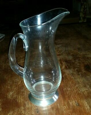 WEBSTER Sterling Silver Based Elegant Glass Pitcher