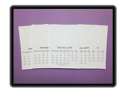 """2019 Blank Stamping Calendars DIY Stampable Photos Craft 3.5""""x5"""" Lot of 5"""