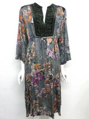 NWT Johnny Was Workshop Velvet Mix Prairie Dress - XL - JW67341118