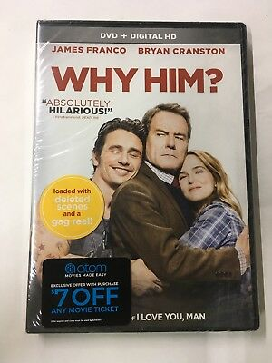 WHY HIM (DVD, 2017, Includes Digital) NEW