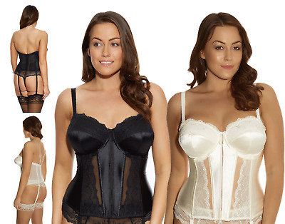 Elomi Maria Basque Underwire 8502 Black Cream Various Size New Bustier Lingerie