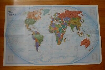 Map of the World Poster Satellite by National Geographic Society September 2006
