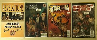 Autographed Acclaim/Valiant Comic Book Lot Approx Value $150 Turok Magnus Signed
