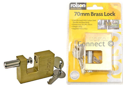 Rolson Heavy Duty Padlock 70mm {1 - 4 Locks}