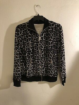 Michael Kors MK Woman's Animal Print Jacket Size Small