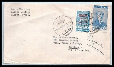GOLDPATH: Syria cover, 1947, To Ojai CA USA, CBHW_05_01