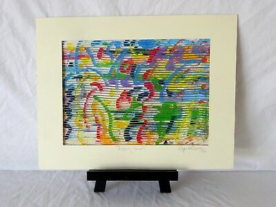 Vintage Modernist Impasto Abstract Oil Painting signed, titled and dated 96'
